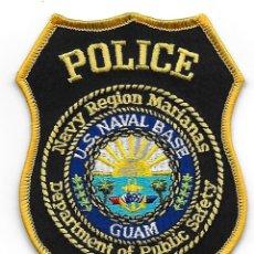 Militaria: PARCHE POLICIA MILITAR USA BASE NAVAL DE GUAM. Lote 160457320