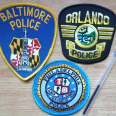 Militaria: PARCHES POLICIA ESTADOS UNIDOS ORLANDO PHILADELFIA BALTIMORE LOTE DE 3 NUEVOS Y ORIGINALES. Lote 150711138