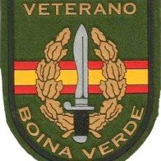 Militaria: PARCHE VETERANO BOINA VERDE COE BOEL UOE MOE FGNE EZAPAC VERDE. Lote 176573110