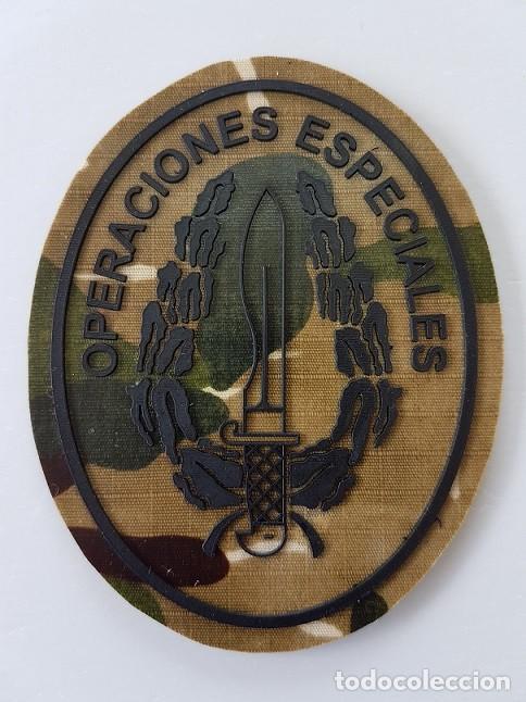 PARCHE OPERACIONES ESPECIALES BOINA VERDE COE MOE UOE BOEL EZAPAC FGNE OVALADO ROCOSO (Militar - Parches de tela )