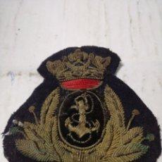 Militaria: GALLETA DE GORRA O ESCARAPEL OFICIAL DE MARINA BORDADA. Lote 151424844