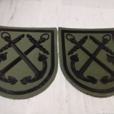 Militaria: LOTE 2 PARCHES DE TELA MARINA ESPAÑOLA. Lote 151425577