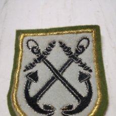 Militaria: PARCHE EJERCITO MARINA TELA BORDADO CON HILO PLATEADO Y DORADO. Lote 151426137