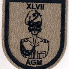 Militaria: ACADEMIA GENERAL MILITAR PROMOCION XLVII EJERCITO ESPAÑOL PARCHE EMBLEMA. Lote 207891808