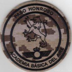 Militaria: ACADEMIA BÁSICA DEL AIRE PASO HONROSO EJERCITO ESPAÑOL PARCHE EMBLEMA. Lote 151873826