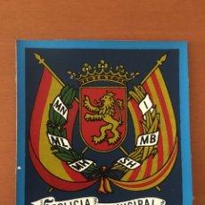 Militaria: ESCUDO POLICÍA MUNICIPAL ZARAGOZA. Lote 152912854