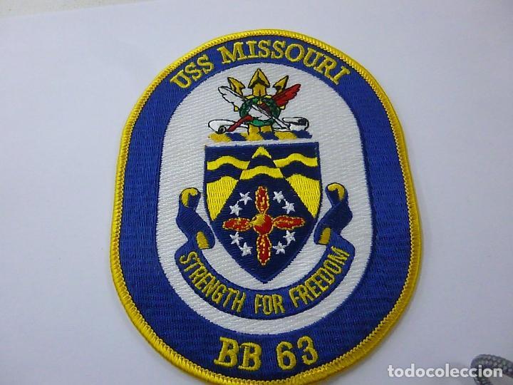 U.S.S. MISSOURI -BB 63- PARCHE DE TELA -N (Militar - Parches de tela )