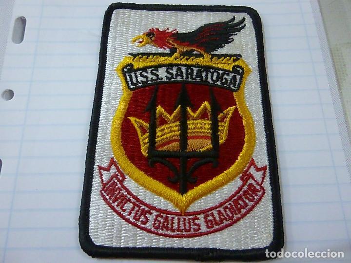 U.S.S. SARATOGA- PARCHE DE TELA -N (Militar - Parches de tela )