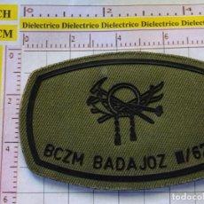Militaria: PARCHE MILITAR. EJÉRCITO ESPAÑOL. BCZM BADAJOZ III/62. BATALLÓN DE CAZADORES DE MONTAÑA. Lote 155488482