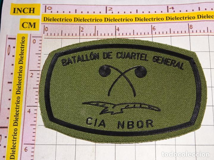 PARCHE MILITAR. EJÉRCITO ESPAÑOL. CIA NBQR BATALLÓN DE CUARTEL GENERAL. LUCHA BIOLOGICA QUIMICA (Militaria - Patches)
