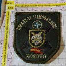 Militaria: PARCHE MILITAR. EJÉRCITO ESPAÑOL. MISIONES KOSOVO. KSPAGT VI ALMOGAVARES. BRIGADA PARACAIDISTA. Lote 155862026