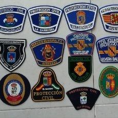 Militaria: 19 PARCHES DE PROTECCIÓN CIVIL DE ESPAÑA. Lote 156812224