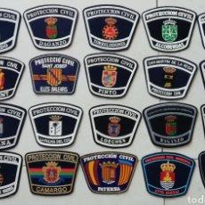 Militaria: 20 PARCHES DE PROTECCIÓN CIVIL DE ESPAÑA. Lote 156812308