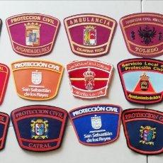 Militaria: 15 PARCHES DE PROTECCIÓN CIVIL DE ESPAÑA. Lote 156812433