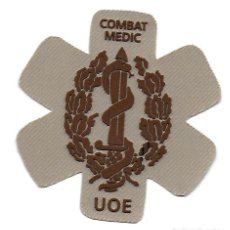 Militaria: PARCHE COE MOE OPERACIONES ESPECIALES UOE COMBAT MEDIC ARIDO. Lote 158308798