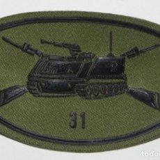 Militaria: PARCHE MILITAR DEL EJÉRCITO ESPAÑOL. REGIMIENTO INFANTERIA ACORAZADO N. 31. CARROS TANQUES. MIDE 8 X. Lote 159607770