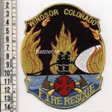 Militaria: BOMBEROS WINDSOR - COLORADO - USA - PARCHE. Lote 159682630
