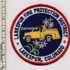 Militaria: LARKPUR FIRE PROTECTION DISTRICT - COLORADO - USA - PARCHE BOMBERO. Lote 159798202