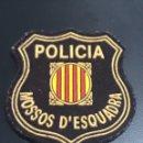 Militaria: PARCHE MOSSOS D'ESCUADRA. Lote 161321980