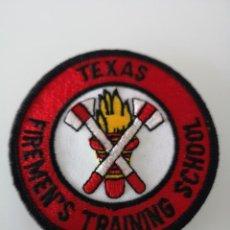 Militaria: PARCHE DE BOMBEROS TEXAS FIREMENS TRAINING SCHOOL ESTADOS UNIDOS . Lote 163606886