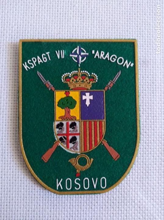 PARCHE DE BRAZO KSPAGT ARAGON. (Militar - Parches de tela )