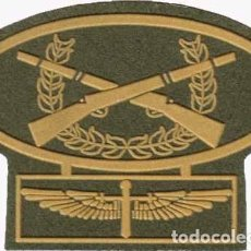 Militaria: PARCHE HELICÓPTEROS FAMET 19- FAMET TIRADOR FONDO VERDE COLOR. Lote 165098302