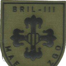 Militaria: PARCHE ANTGUO EJÉRCITO DE TIERRA B.I.L. BRIG. INF. LIGERA MAESTRAZGO III FAENA . Lote 166303666