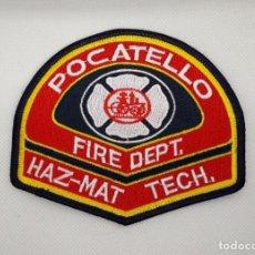 Militaria: PARCHE BOMBEROS DE POCATELLO, USA. Lote 167012916