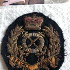 Militaria: PRECIOSO PARCHE DE LA ROYAL NAVY, GRAN TAMAÑO. Lote 167572732