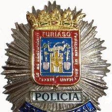 Militaria: PLACA METÁLICA DE PECHO DE LA POLICÍA LOCAL DE TARAZONA EN ZARAGOZA - ARAGÓN. Lote 168926140