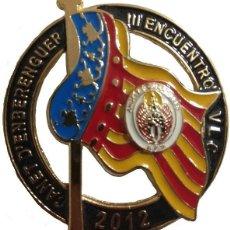 Militaria: PLACA METÁLICA DE PECHOASOCIACIÓN POLICÍAS MOTORISTAS ÁNGELES CUSTODIOS CANET D´ENBERENGUER III ENCU. Lote 168926228