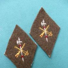 Militaria: 2 PARCHES LEGION BORDADOS EN TELA GRUESA 13 X 8CM GUERRA CIVIL. Lote 170418752