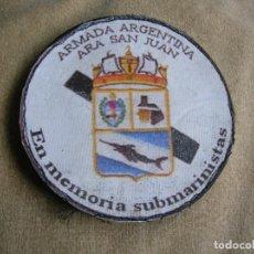 Militaria: PARCHE CON VELCRO HOMENAJE A LOS SUBMARINISTAS DEL ARA SAN JUAN. ORIGINAL ARGENTINO.. Lote 170453512