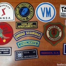 Militaria: 15 EMBLEMAS DE VIGILANTE DE SEGURIDAD. Lote 171360065