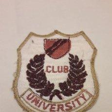 Militaria: PARCHE CLUB UNIVERSITY. Lote 171605318