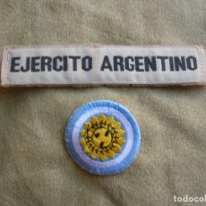 Militaria: CONJUNTO DE PARCHES DEL EJERCITO ARGENTINO. COCARDA BANDERA ARGENTINA.. Lote 171680448