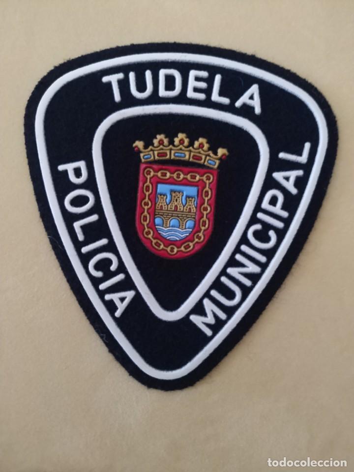 PARCHE POLICIA LOCAL MUNICIPAL TUDELA (NAVARRA). EMBLEMA, ESCUDO POLICIAL (Militar - Parches de tela )