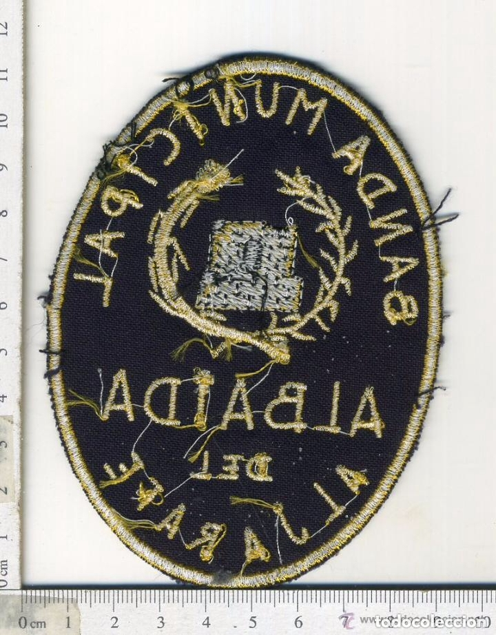 Militaria: PARCHE DE TELA BORDADO BANDA DE MUSICA MUNICIPAL ALBAIDA DEL ALJARAFE SEVILLA - Foto 2 - 172204799