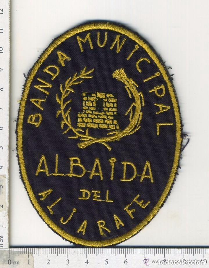 PARCHE DE TELA BORDADO BANDA DE MUSICA MUNICIPAL ALBAIDA DEL ALJARAFE SEVILLA (Militar - Parches de tela )