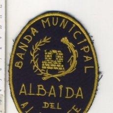 Militaria: PARCHE DE TELA BORDADO BANDA DE MUSICA MUNICIPAL ALBAIDA DEL ALJARAFE SEVILLA. Lote 172204799