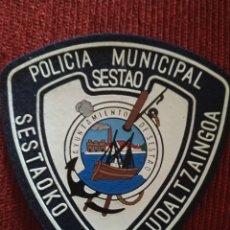 Militaria: PARCHE POLICIA LOCAL SESTAO MUNICIPAL. EMBLEMA, ESCUDO POLICIAL. Lote 173097385
