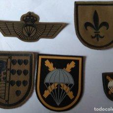 Militaria: LOTE DE 5 PARCHE BRIGADA PARACAIDISTA, BRIPAC, GENÉRICO, I Y III BANDERA, CHAMBERGO Y ROKISKI. Lote 175616869