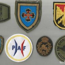 Militaria: LOTE DE 6 PARCHES DEL EJÉRCITO D ETIERRA Y 1 FRANCES, TAL Y COMO SE EN LA FOTOGRAFÍA . Lote 175620165