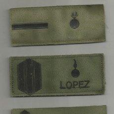 Militaria: LOTE DE 3 PARCHES GALONES DE PECHO 2 DE ARTILLERÍA Y 1 DE INFANTERÍA. Lote 175621044