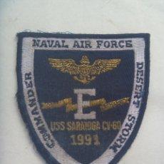 Militaria: PARCHE DE LA AVIACION NAVAL DE ESTADO UNIDOS : USS SARATOGA CV-60 , TORMENTA DEL DESIERTO, 1991. Lote 175895674