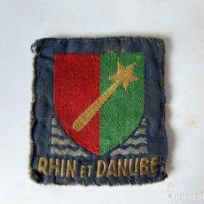 Militaria: WW2. FRANCIA. PARCHE DEL PRIMER EJERCITO FRANCÉS. TROPAS DEL RHIN Y DEL DANUBIO. Lote 176077917