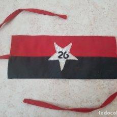 Militaria: CUBA CASTRO REVOLUCION MOVIMIENTO 26 DE JULIO BRAZALETE DE TELA. Lote 254561335