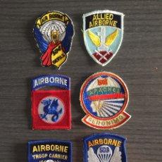 Militaria: PARCHES TELA PARACAIDISTAS EEUU Y GB. Lote 177795177