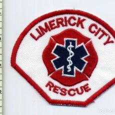 Militaria: LIMERICK CITY RESCUE - IRLANDA - PARCHE EMERGENCIAS. Lote 177842373