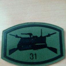 Militaria: PARCHE PECHO VERDE OTAN REGIMIENTO DE INFANTERIA ASTURIAS 31 BATALLÓN MECANIZADO. Lote 262636840
